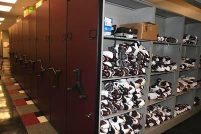 MSUs State Of The Art Spacesaver Inventory Units Allow For Excellent Organization And Greater Efficiency In Managing Bulldogs Equipment