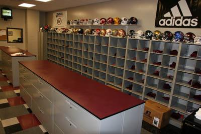 Mississippi States Central Athletic Equipment Room