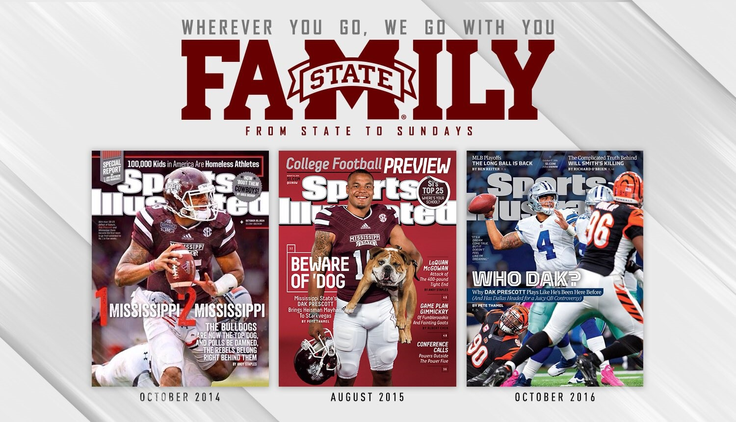 finest selection 7b77b 598a8 Dak Prescott Graces Cover of Sports Illustrated For Third ...