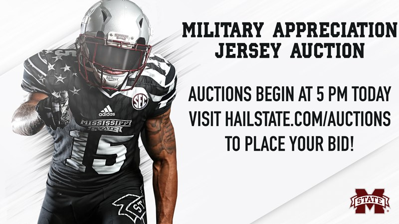 huge discount 89404 07eef MSU To Auction Military Appreciation Football Jerseys ...