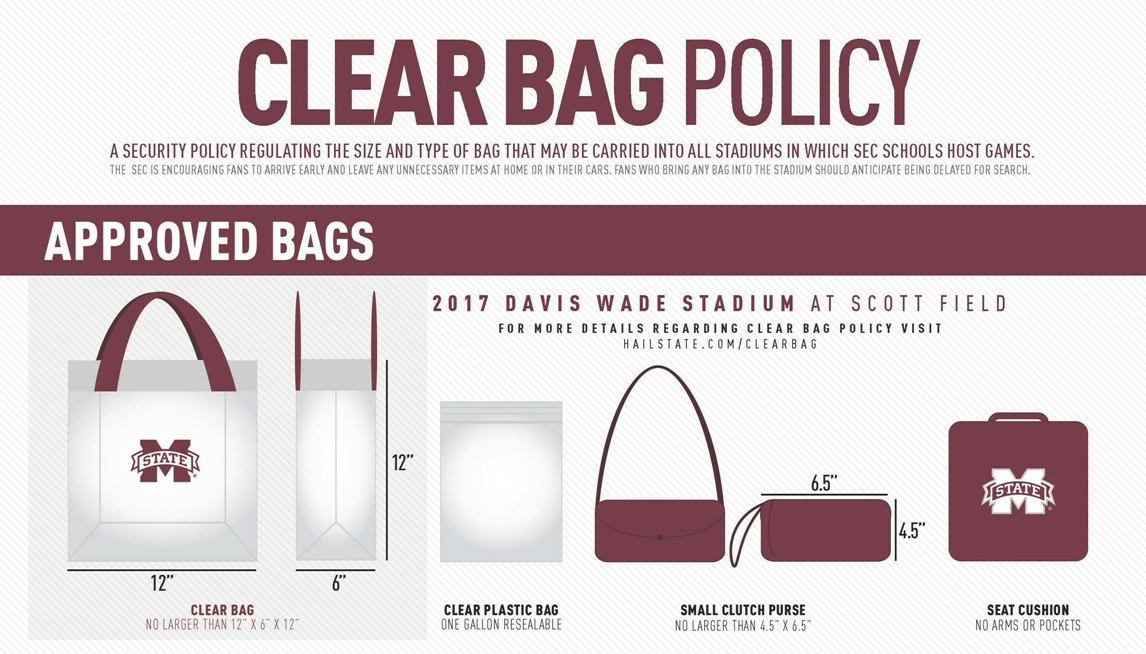 Sec Reminds Fans Of Clear Bag Policy For All Football