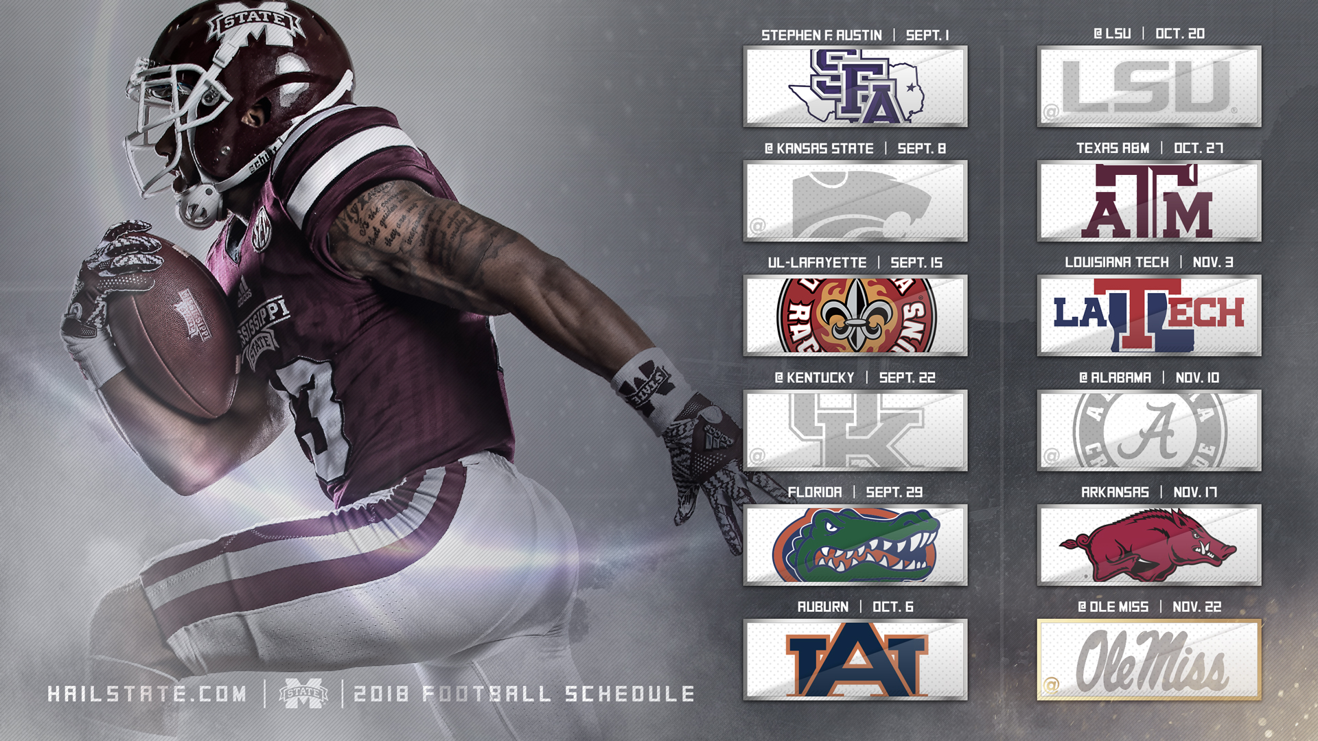 football unveils 2018 schedule mississippi state university athletics