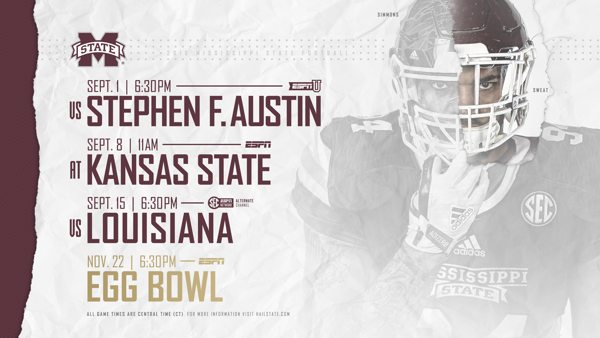 Kick Times Tv Info Released For Msu S First Three Games Egg Bowl