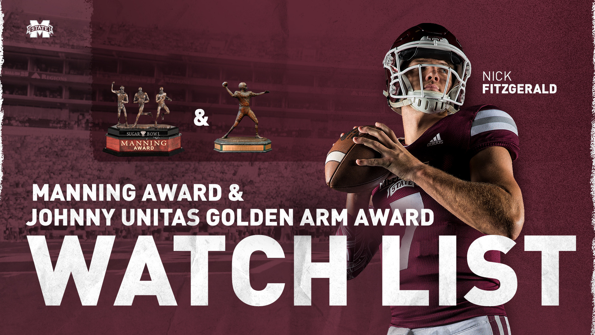 Fitzgerald Named To Manning And Johnny Unitas Golden Arm Award Watch