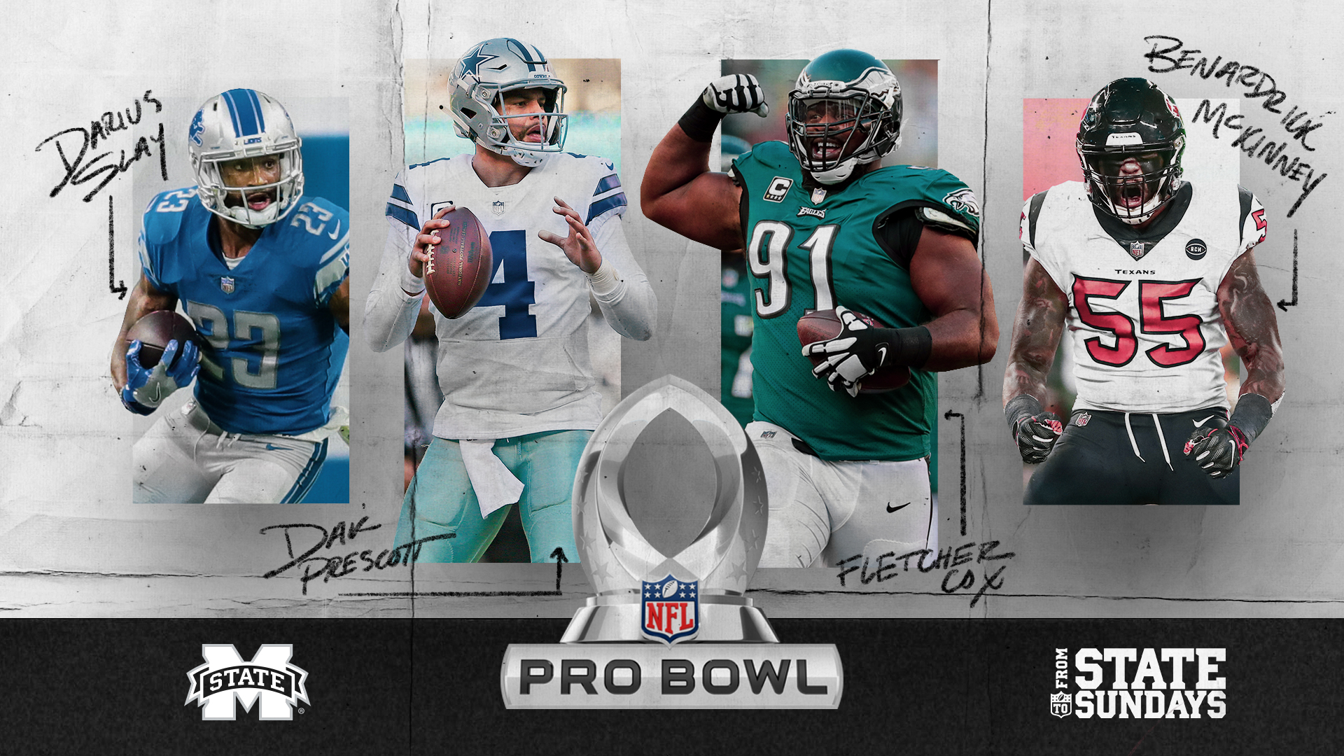 new products 587d4 fd5f4 Bulldogs Boast School-Record Pro Bowl Selections ...