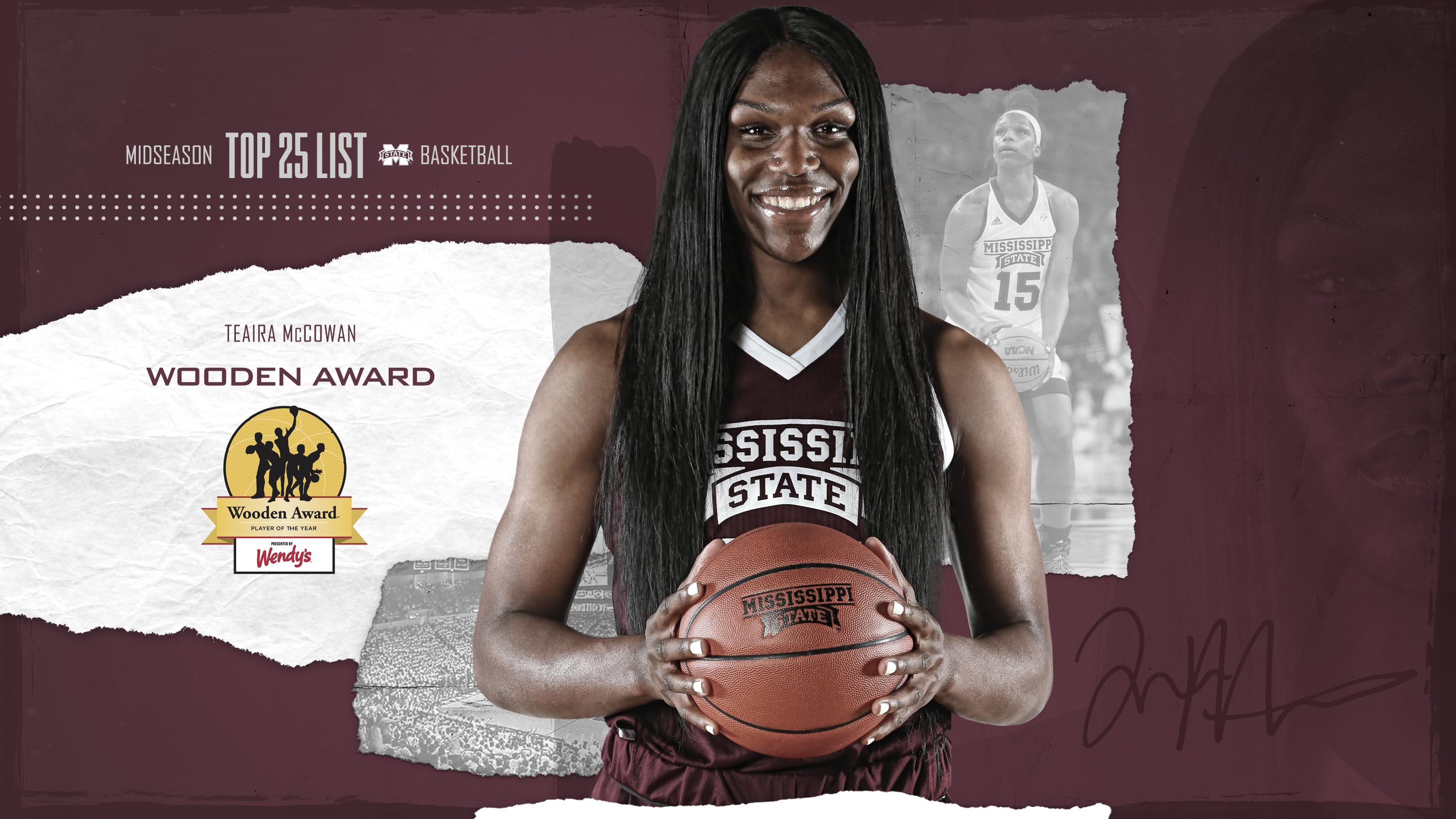 Mccowan Named To Wooden Award Midseason Watch List Mississippi State